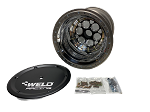 Weld Magnum Sprint Car Splined Wheel 15x17-6off (Black Center & Cover)